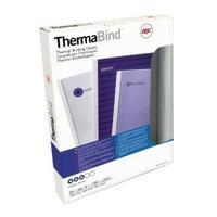 GBC LeatherGrain 1.5mm Royal Blue Thermal Binding Covers Pack of 100