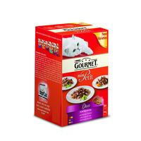 Gourmet Mon Petit Pouch Cat Food Beef and Chicken 6 x 50g