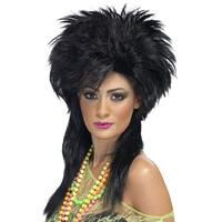 Groovy Punk Chick Wig Black