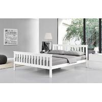 Hastings White Wooden Bed