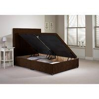 Harvard Divan Bed Frame Chocolate Velvet Fabric Double 4ft 6