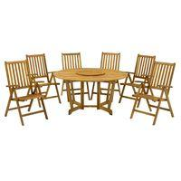 Henley 150cm Round 6 Seater Dining Set with Manhattan Recliner Chairs and Lazy Susan