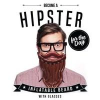 Hipster for the Day - Inflatable Beard with Glasses