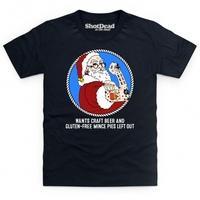 Hipster Santa Kid\'s T Shirt