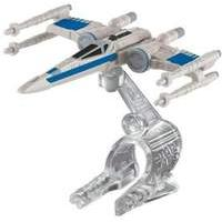 Hot Wheels Star Wars: The Force Awakens Resistance X-Wing Fighter (Closed Wings Blue) Die-Cast Vehicle