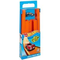 Hot Wheels 15ft Straight Track with Car