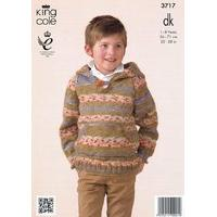 Hoodies in King Cole Splash DK (3717)