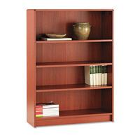 HON 1894J 1890 Series Bookcase, 4 Shelves, 36w x 11-1/2d x 48-3/4h, Henna Cherry