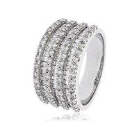 Hugh Rice 18ct White Gold 2.25ct Baguette and Round Brilliant Cut Diamond Band