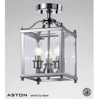 IL31100 Aston 3 Light Chrome Ceiling Lantern