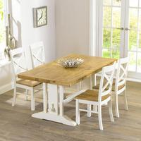 Indiana Oak 165cm Extending Dining Table with 4 Indiana Chairs