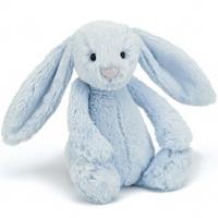 Jellycat Medium Bashful Bunny 31cm, Blue, 31cm