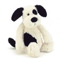 Jellycat Medium Bashful Animals 31cm , Black and Cream Puppy, 31cm