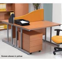 Jemini Wave 1500mm Blue Desk Screen KF74006