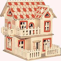 Jigsaw Puzzles Wooden Puzzles Building Blocks DIY Toys European-Style Villas A 1 Wood Ivory Model Building Toy