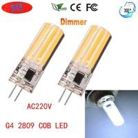 JRLED G4 Dimmable 6W 80-COB LED Cold White Light Ceramic Bulbs (2PCS)