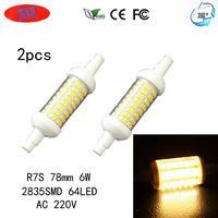 JRLED R7S 6W 360 Degree Beam Angle Warm White LED Light Bulb Lamps