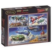 Jumbo Thunderbirds Iconic Vehicles Jigsaw Puzzle (1000-Piece Multi-Colour)