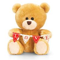 Keel Toys 20cm Valentines Bear With Banner
