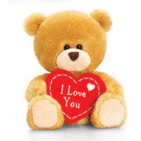 Keel Toys 20cm Valentines Bear With Heart