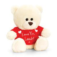 Keel Toys 20cm Valentines Bear With Jumper