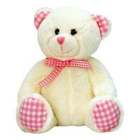Keel Toys Nursery Gingham Bear - 15cm Pink