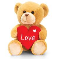 Keel Toys Honey Barney Bear With Heart - 25cm