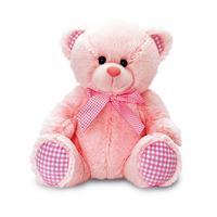 Keel Toys Nursery Gingham Bear - 35cm Pink