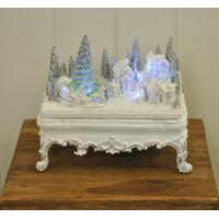Kingfisher Christmas Scene with Turning Train Decoration