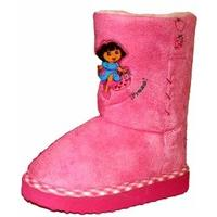 Kids Novelty Dora The Explorer Fruity Winter Snugg Boot Shoe