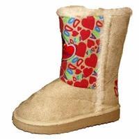 Kids Novelty Dora The Explorer Hearts Snugg Boot Shoe