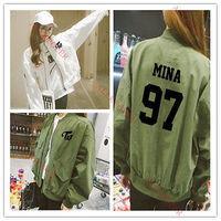 KPOP TWICE Sana Fashion Jacket Da Hyun Merchandise Coat Ji Hyo Outwear Tzuyu