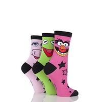 Ladies 3 Pair SockShop Muppets Socks