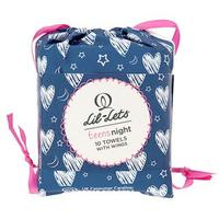 Lil-Lets Teen Night 10 Towels With Wings