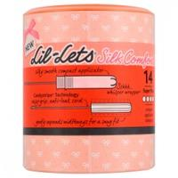 Lil-Lets Silk Comfort Compact Applicator Tampons Super Plus 14s