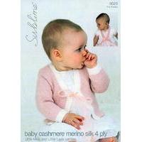 Little Miss & Little Lady Cardies in Sublime Baby Cashmere Merino Silk 4 Ply (6029)