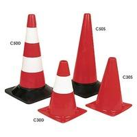 Lightweight Traffic Cones 300h Plain Red Cone - Pack of 5