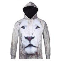 Lion 3D Printed Cool Hoodie