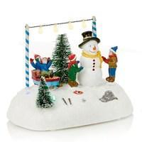 Lovely LED Snowman Sledge Scene