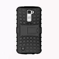 Luxury Armor Shock Proof Hybrid TPU Silicone Hard Protective Back Cover Case for LG K10 with Stand