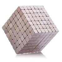 Magnet Toys 216Pcs 5mm Magnet Toys Neodymium Magnet Executive Toys Puzzle Cube DIY Toys Magnetic Balls Silver Education Toys For Gift