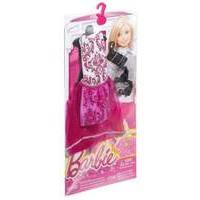 Mattel Barbie - Fashion - Night Look Fashion - Pink Dress Black Shoes (dmf52)
