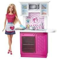 Mattel Barbie Doll - Barbies Life Furniture - Kitchen & Doll Playset (cfb62)