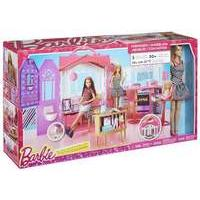 Mattel Barbie - Carrying Case House and Barbie Doll (cfb65)