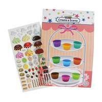 Make a Cupcake Sticker Scene
