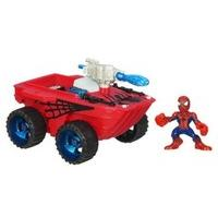 Marvel Super Hero Squad Squad Cruisers Spider Splasher with Spider-man Figure