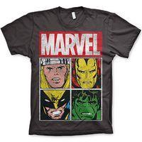 Marvel Comics T Shirt - Thor Iron Man Wolverine Hulk Panels