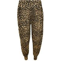 Maisy Printed Harem Trousers - Brown