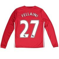 Manchester United Home Shirt 2016-17 - Kids - Long Sleeve with Fellain, Red
