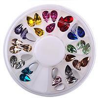 Manicure DIY Nail Accessories 6cm Drill Drill Drill 12 Disc Box Drop Acrylic Color Decoration Disc